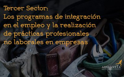 Tercer Sector: Los programas de integración en el empleo y la realización de prácticas profesionales no laborales en empresas
